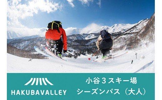 HAKUBA VALLEY OTARI 3スキー場共通シーズンパス(大人)1枚