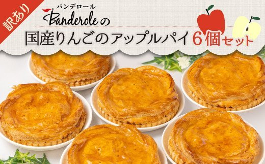 【訳あり】国産りんごのアップルパイ6個セット 【工場直売アウトレット品】