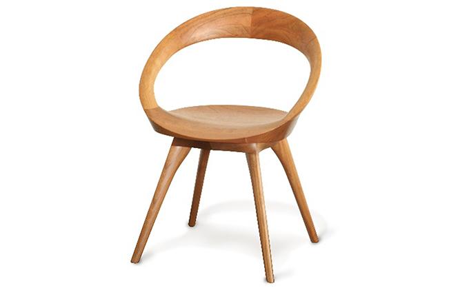 起立木工ANELLO(アネロ)チェア ブラックチェリー/ウレタン塗装 椅子
