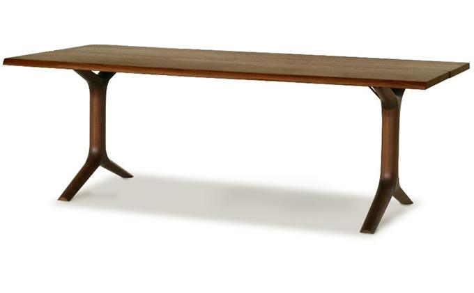 起立木工 ダイニングテーブル KAMUI ブラックウォールナット 幅160cm