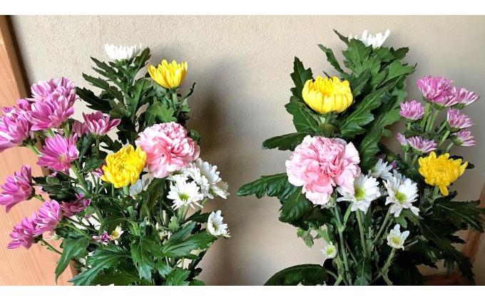 お供えのお花(生花組花2束)1年コース