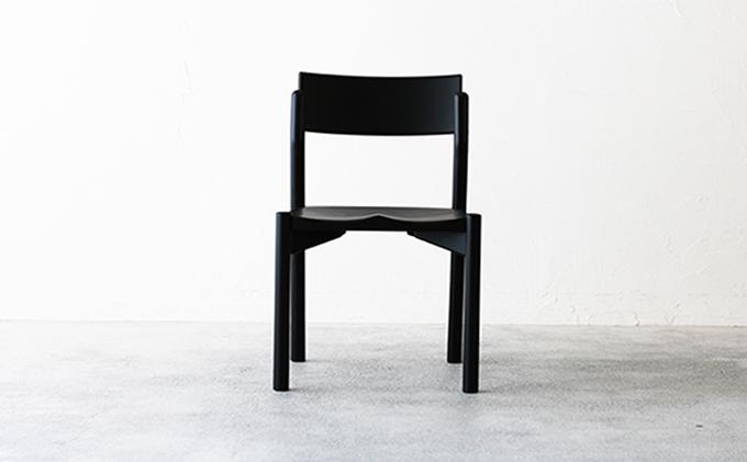【秋山木工】ダイニングチェアKIKORI-Black ビーチ材 1脚