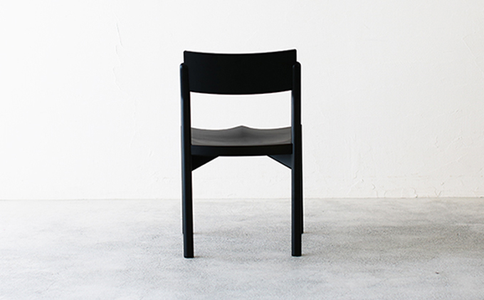 【秋山木工】ダイニングチェアKIKORI-Black ビーチ材 4脚