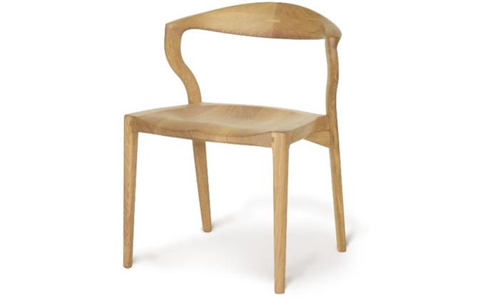起立木工 ダイニングチェア KAMUI レッドーオーク/ウレタン塗装 椅子