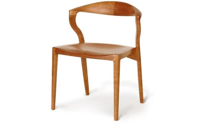 起立木工 ダイニングチェア KAMUI ブラックチェリー/ウレタン塗装 椅子