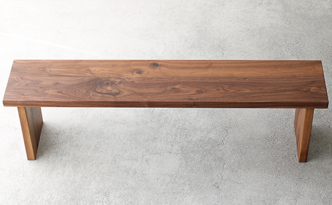 【秋山木工】ベンチ ウォールナット材 W150 D30
