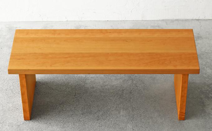 【秋山木工】ベンチ ブラックチェリー材 W110 D40
