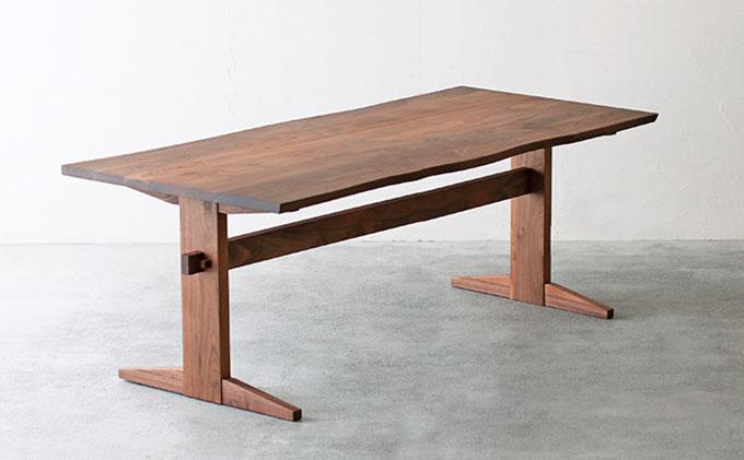 【秋山木工】ダイニングテーブル ウォールナット材 W180xD80xH70cm