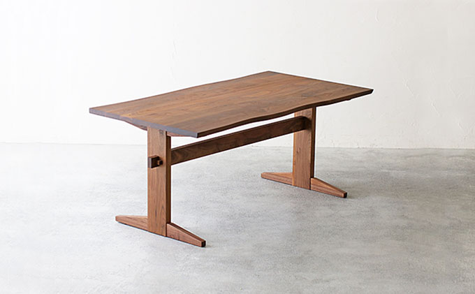 【秋山木工】ダイニングテーブル ウォールナット材 W150xD90xH70cm