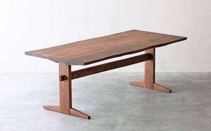 【秋山木工】ダイニングテーブル ウォールナット材 W180xD90xH70cm