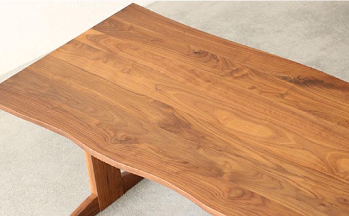 【秋山木工】ダイニングテーブル ウォールナット材 W200xD90xH70cm