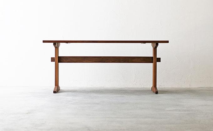 【秋山木工】ダイニングテーブル ウォールナット材 W165xD80xH70cm