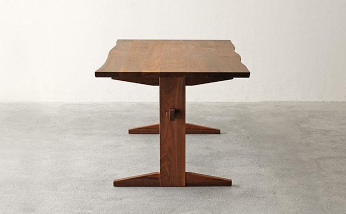 【秋山木工】ダイニングテーブル ウォールナット材 W200xD80xH70cm
