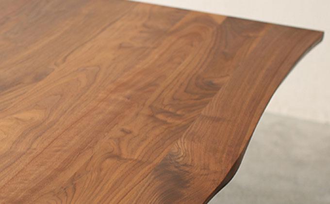 【秋山木工】ダイニングテーブル ウォールナット材 W165xD90xH70cm