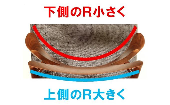 起立木工 RADIUSダイニングチェア ブラックウォールナット/布張り(赤系)肘付椅子