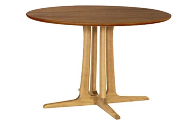 起立木工 円形ダイニングテーブル φ105cm 天板ウォールナット材・脚レッドオーク材