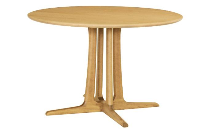 起立木工 円形ダイニングテーブル φ105cm 天板レッドオーク材・脚レッドオーク材