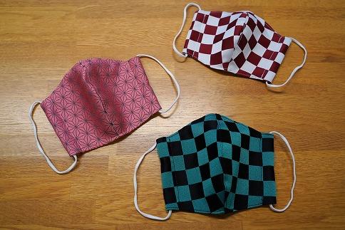 人気アニメの和柄を取り入れた マスク 3枚 日本製 こども用 H067-011