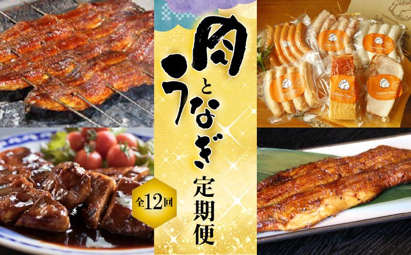 うなぎとお肉≪定期便≫(全12回お届け) H028-014