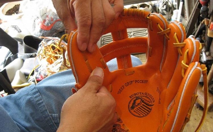 軟式野球グラブ 秘伝磯貝流 湯もみ型付 H099-002