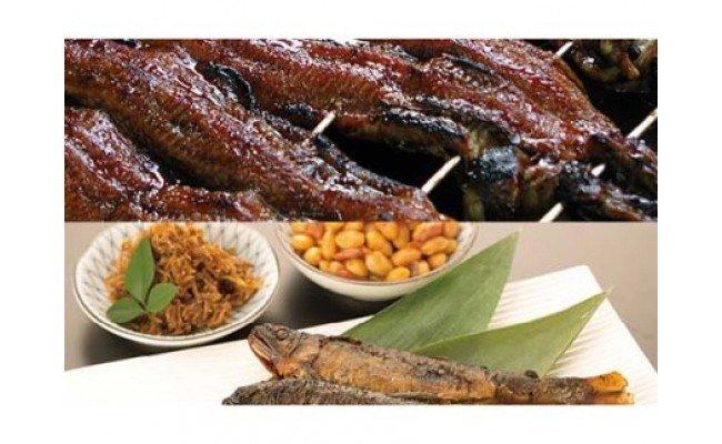 ◆炭火焼国内加工蒲焼うなぎと湖の幸 ご飯のお供 お茶漬けセット