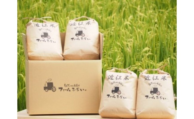 ◆【令和2年産】ファーム・ひらい 環境こだわり米コシヒカリ(玄米5kg×4)