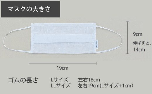 AB-37.【4色4サイズから選べる】素肌にやさしいリネンマスク2枚組(L)