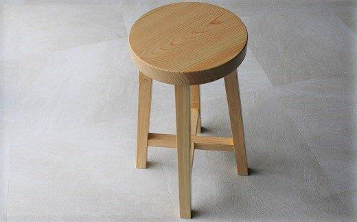D-3.【好木心あふれる】ヒノキのスツール(丸)
