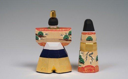 KHC-1.【桃の節句のお祝いに】奈良一刀彫 雛人形 かぎろい 4号