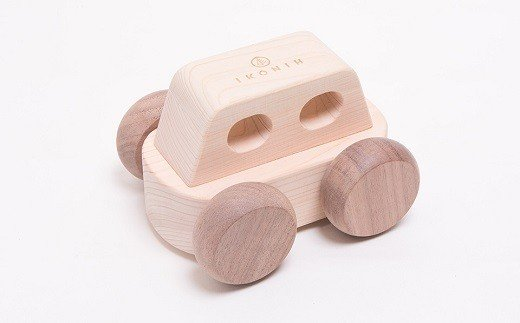 BD-4.【檜のおもちゃ】オルゴールカー MUSIC CAR