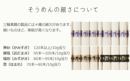 BE-3.【発祥の地、そうめん王国の誇り】三輪素麺 誉(250g×20袋)