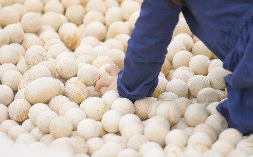 SGIG-1.【檜のボールプール】IKONHI POOL《木球700個+オプションフェンス3枚》