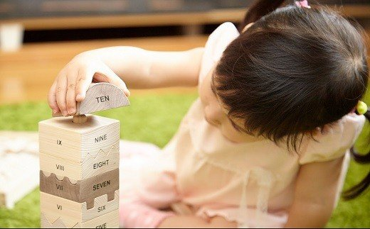 CC-5.【檜のおもちゃ】ナンバータワー NUMBER TOWER