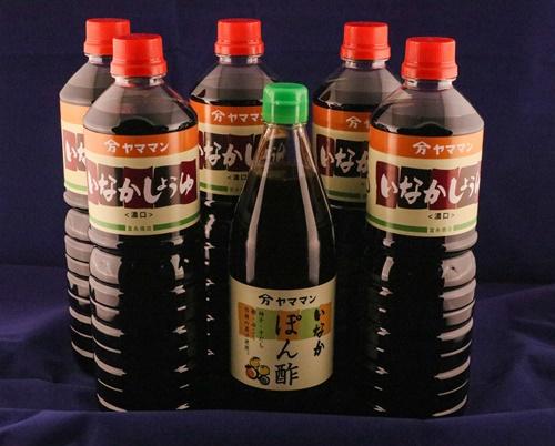いなか醤油 ぽん酢 6本セット 富永商店/ポン酢 醤油 濃口 柑橘 ゆず すだち ゆこう だいだい