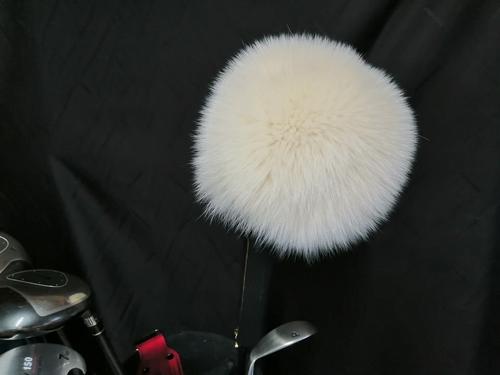 ゴルフ ヘッドカバー ドライバー用 シャドー フォックス 染 クリーム /特許出願中の縫製技術 毛皮