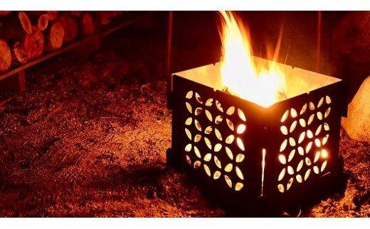 焚火台 ファイヤーピット(和柄 七宝)/アウトドアグッズ キャンプ用品 登山用品 ピクニック キャンパー