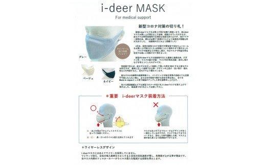 i-deer マスク グレー Mサイズ 日本製 新開発 強力殺菌 キョンセーム ろ過フィルター