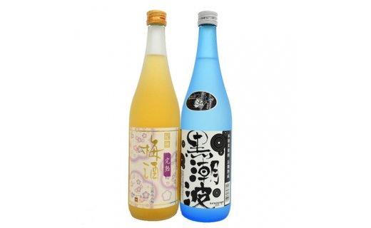 焼酎 黒潮波(くろしおなみ)720mlと紀州完熟南高梅「梅酒」720mlの2本セット