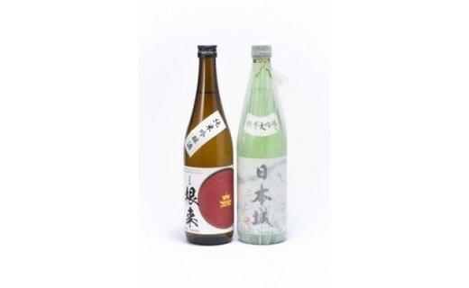 「日本城」純米大吟醸酒と純米吟醸酒「根来」720ml飲み比べセット