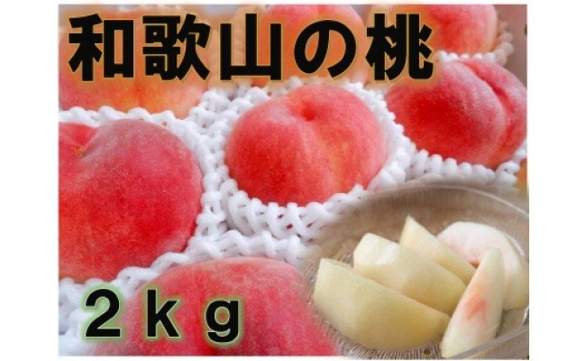 BD6008_【秀品】和歌山ブランド白桃約2kg![8月発送分]ギフト、贈答にも!