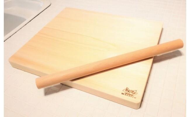 AA6010_手作りパン・ピザ・お菓子作りに最適!家具職人が造る紀州ヒノキ(一枚板)の木製ボード&めん棒