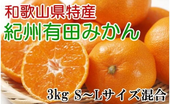 ZD6194_【厳選】紀州有田みかん 3kg(S~Lサイズ混合・秀品)