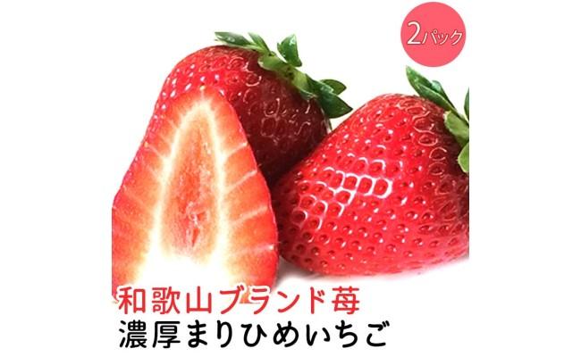AB6174_農家直送!濃厚完熟まりひめ いちご 12~18粒×2トレイ(約700g)