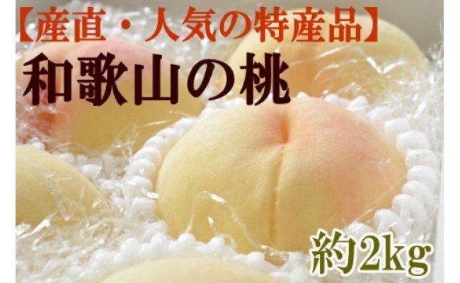 ZD6034_和歌山の桃 約2kg・秀選品【産直・人気の特産品】