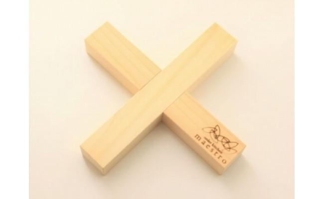 AA6006_【紀州ヒノキ】鍋敷き クロス 家具職人手造り