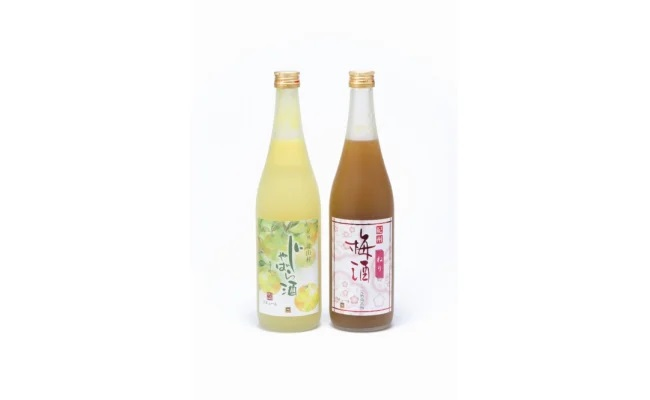 ZD6203_「紀州完熟南高梅・ねりうめ酒」と「じゃばら酒」各720ml