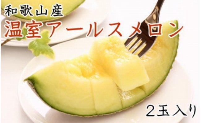 ZD6180_[産地直送]和歌山の温室アールスメロン2玉入り(秀品)