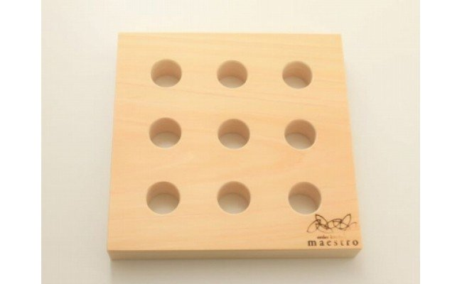 AA6005_【紀州ヒノキ】鍋敷き スクエア 家具職人手造り
