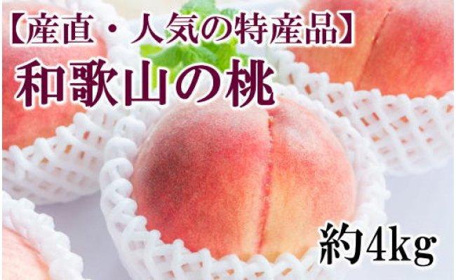 ZD6181_【産直・人気の特産品】和歌山の桃約4kg・秀選品 2020年6月下旬以降発送