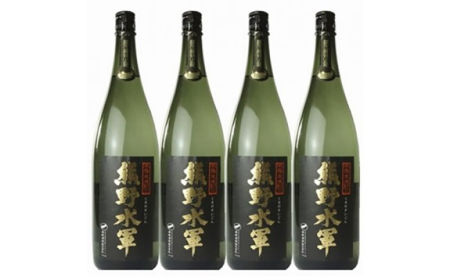 V6108_熊野水軍 (C003)1升瓶【4本セット】本格米焼酎 熊野水軍 1800ml×4本 /尾崎酒造